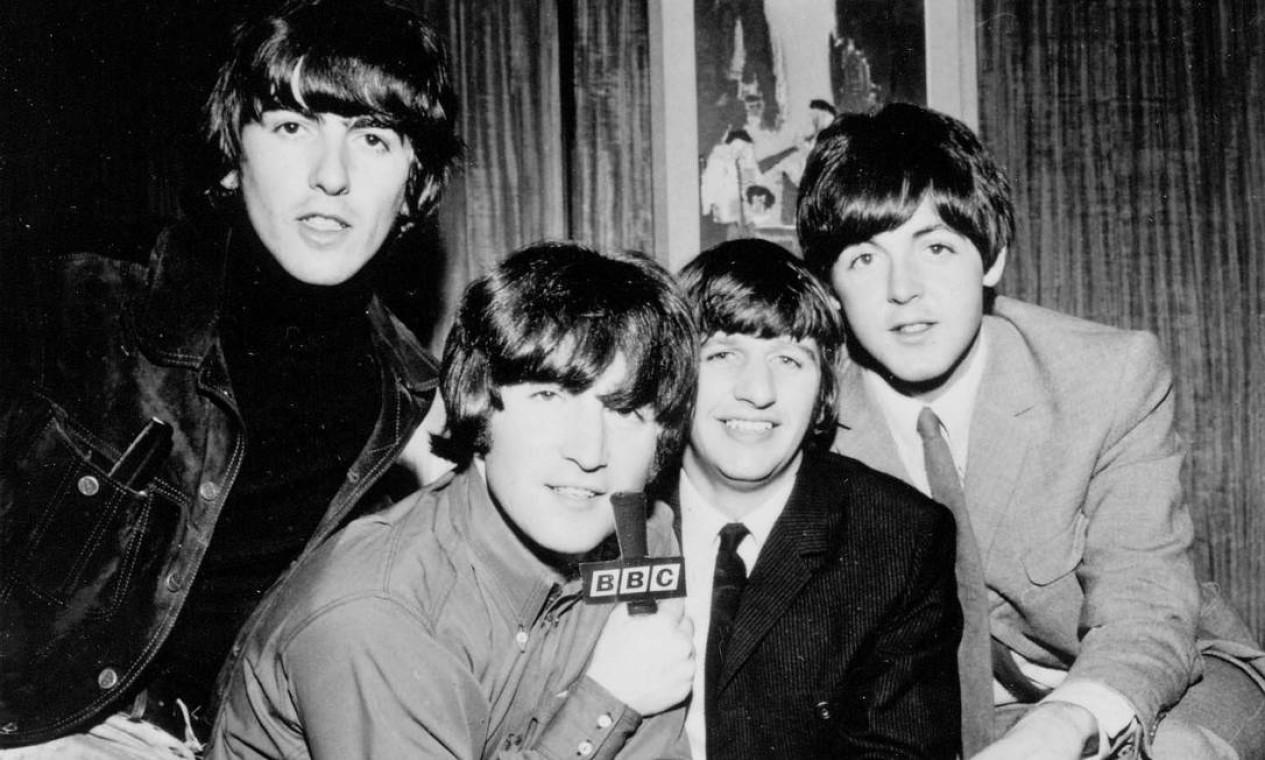 George Harrison, John Lennon, Ringo Starr e Paul Mc Cartney no auge da beatlemania, em fevereiro de 1964. Foto: EFE / Arquivo