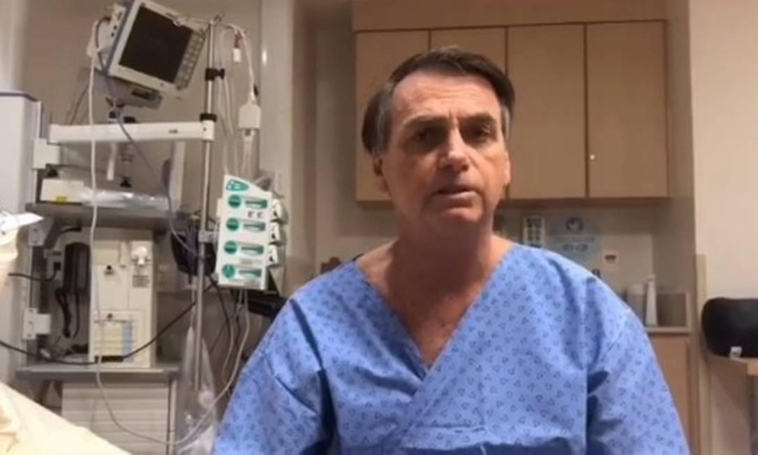 O presidente Jair Bolsonaro foi submetido a uma cirurgia na segunda-feira Foto: Reprodução / Instagram