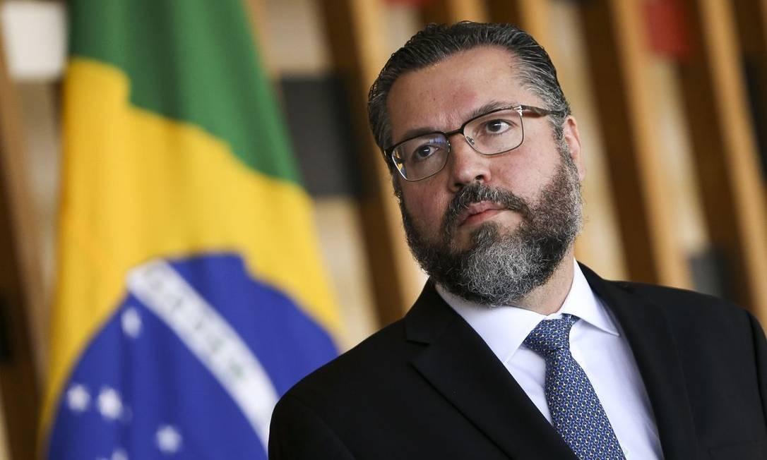 O ministro das Relações Exteriores, Ernesto Araújo Foto: Marcelo Camargo/Agência Brasil
