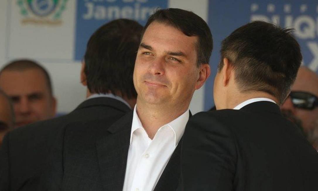 De mudança para Brasília, Flávio Bolsonaro deixará o comando do partido no Rio. Quatro nomes despontam como favoritos para a sucessão Foto: Pablo Jacob / Agência O Globo