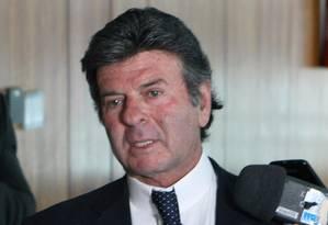 O ministro Luiz Fux, durante entrevista Foto: Nelson Jr./STF