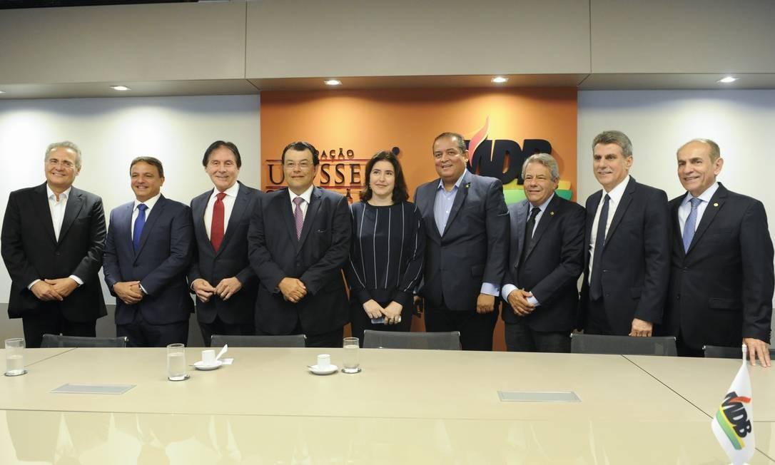 Reunião da bancada do MDB do Senado Foto: Jane de Araújo/Agência Senado