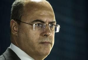Declaração de Witzel, feita na segunda-feira, repercutiu entre especialistas Foto: Guito Moreto / Agência O Globo