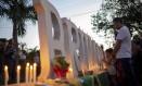Familiares de vítimas da tragédia de Brumadinho fazem homenagem aos mortos Foto: MAURO PIMENTEL / AFP
