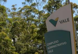 Entrada principal do complexo da Vale em Nova Lima (MG) Foto: WASHINGTON ALVES / REUTERS