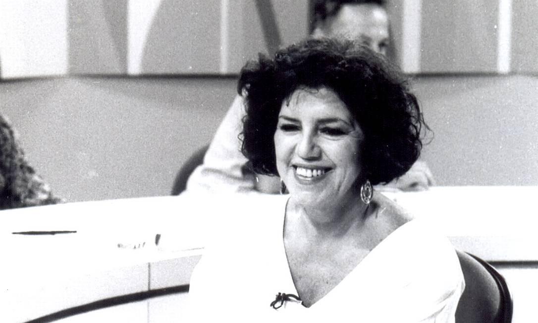 Logo em seguida, Lúcia Leme assumiu o comando e se tornou foi o rosto mais conhecido do 'Sem censura' nos anos 1980. Com algumas interrupções, ficou à frente do programa entre 1986 e 1996 Foto: Arquivo