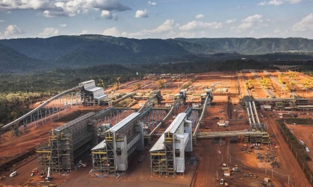 Usina do projeto S11D, no Pará Foto: Vale-Divulgação