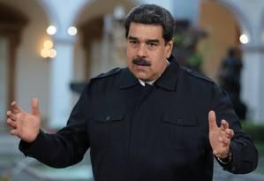 Presidente da Venezuela, Nicolás Maduro discursa no Palácio de Miraflores Foto: Palácio de Miraflores / REUTERS