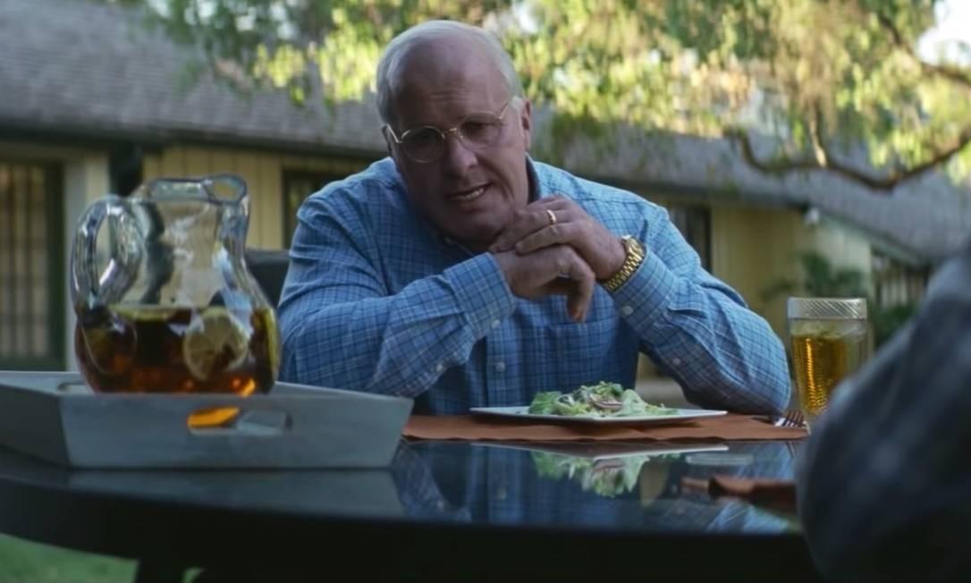Filme / Vice Christian Bale é o republicano Dick Cheney em Vice / Divulgação
