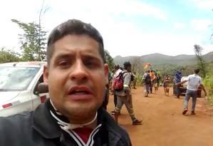 O engenheiro Rawgleison Batista Amaral conseguiu fugir da avalanche de lama. Ele ficou ilhado com um grupo em uma parte alta, que foi salvo após ser avistado por helicópteros em Brumadinho Foto: Acervo pessoal