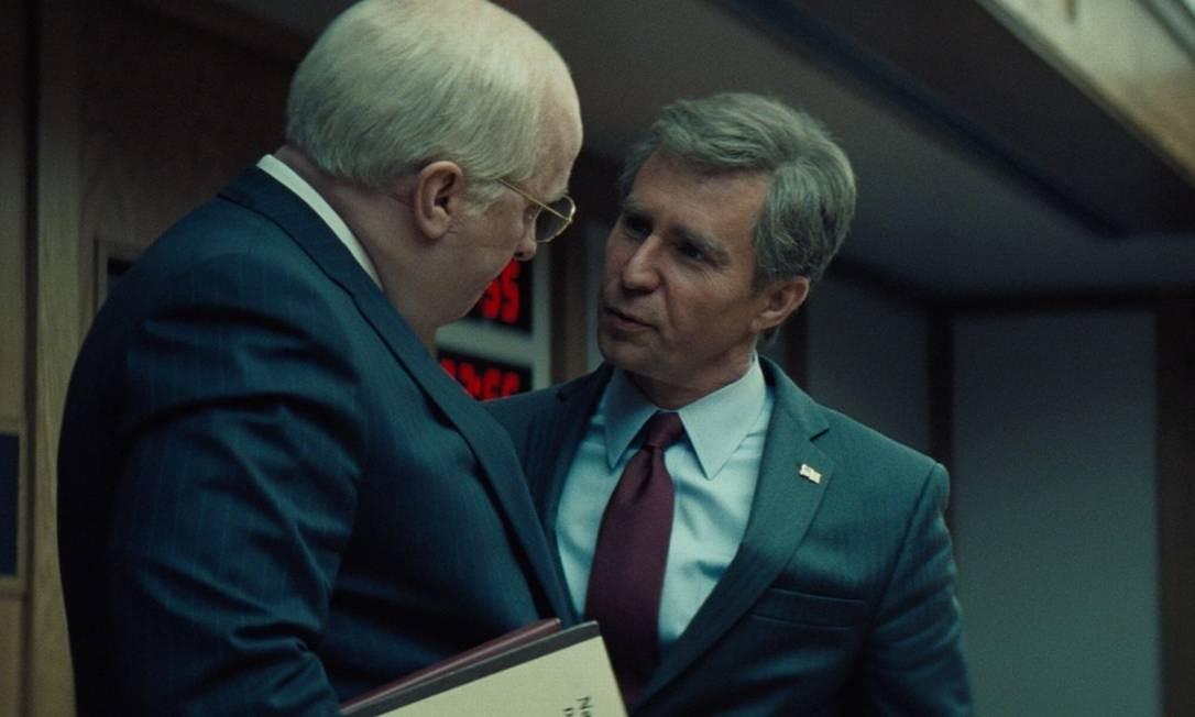 Novo filme de Adam McKay é uma crítica ao vice-presidente americano nas duas gestões de George W. Bush Foto: Divulgação