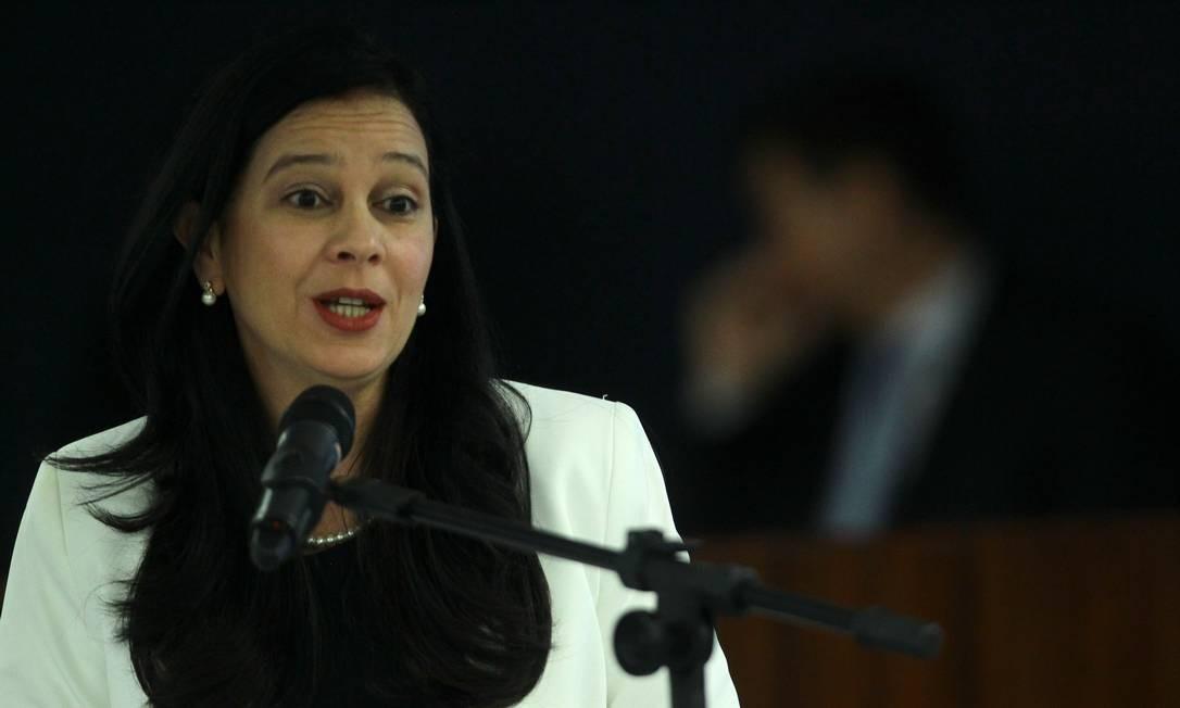 A advogada-geral da União, Grace Mendonça, durante seminário Foto: Jorge William/Agência O Globo/20-08-2018