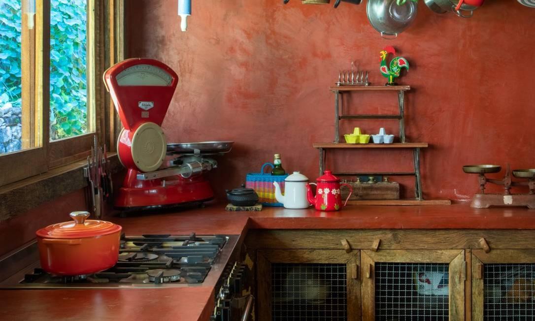 Detalhes da cozinha da casa Foto: André Nazareth
