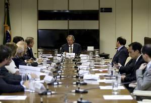 O ministro da Economia, Paulo Guedes, durante reunião com dirigentes da Frente Nacional de Prefeitos Foto: Wilson Dias/Agência Brasil