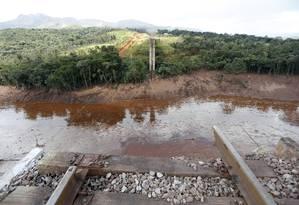 Devastação causada por rompimento de barragem da Vale em Brumadinho Foto: Domingos Peixoto/Agência O Globo