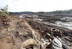 Devastação causada por rompimento de barragem da Vale em Brumadinho Foto: Domingos Peixoto / Agência O Globo