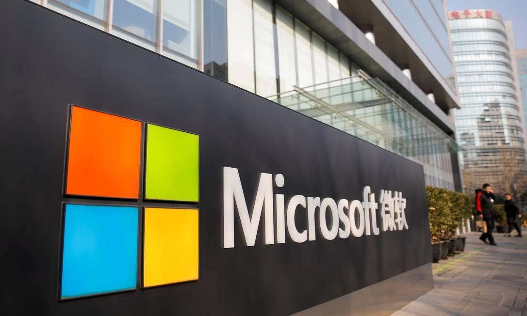 Microsoft: crescimento abaixo das expectativas dos investidores Foto: Thomas Peter / REUTERS