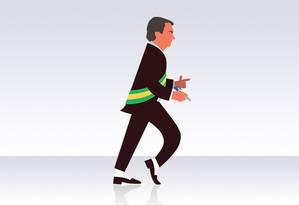 Os recuos de Bolsonaro, em um mês de governo Foto: Editoria de Arte