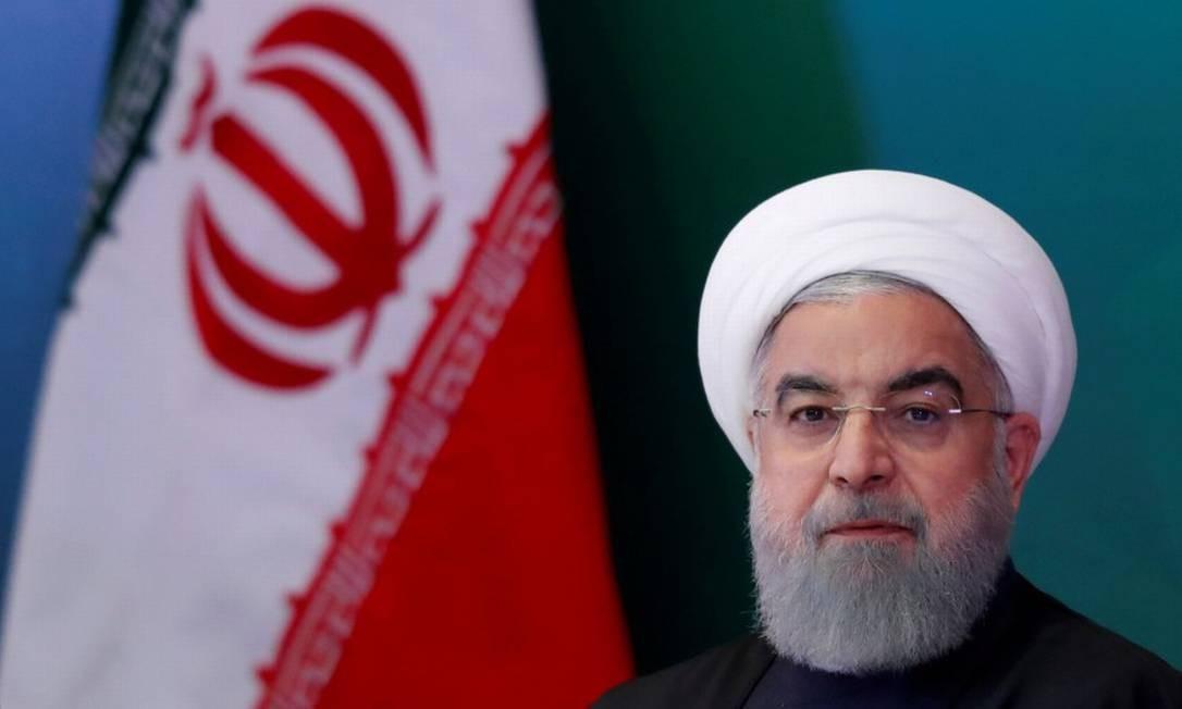 O presidente do Irã Hassan Rouhani em um encontro na Índia no dia 15 de fevereiro de 2018 Foto: Danish Siddiqui / Reuters