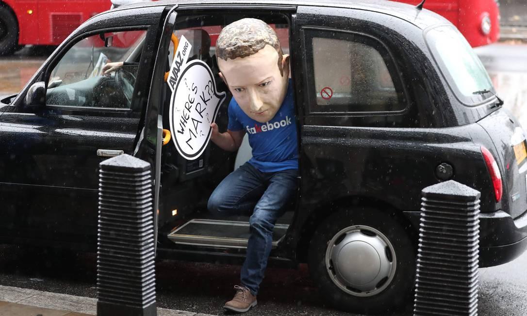 Por causa dos escândalos sucessivos, Mark Zuckerberg foi convocado pelo Parlamento Britânico em novembro, mas não compareceu. Foto: DANIEL LEAL-OLIVAS / AFP
