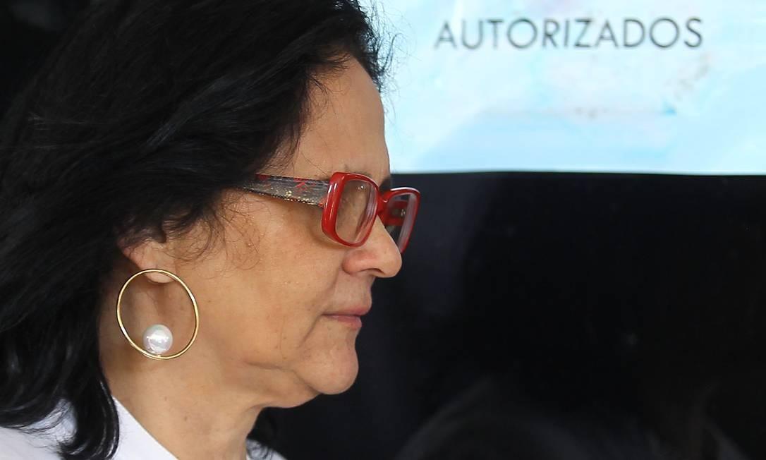 Damares Alves, no CCBB, onde funcionou o gabinete de transição Foto: Jorge William/Agência O Globo/11-12-2018
