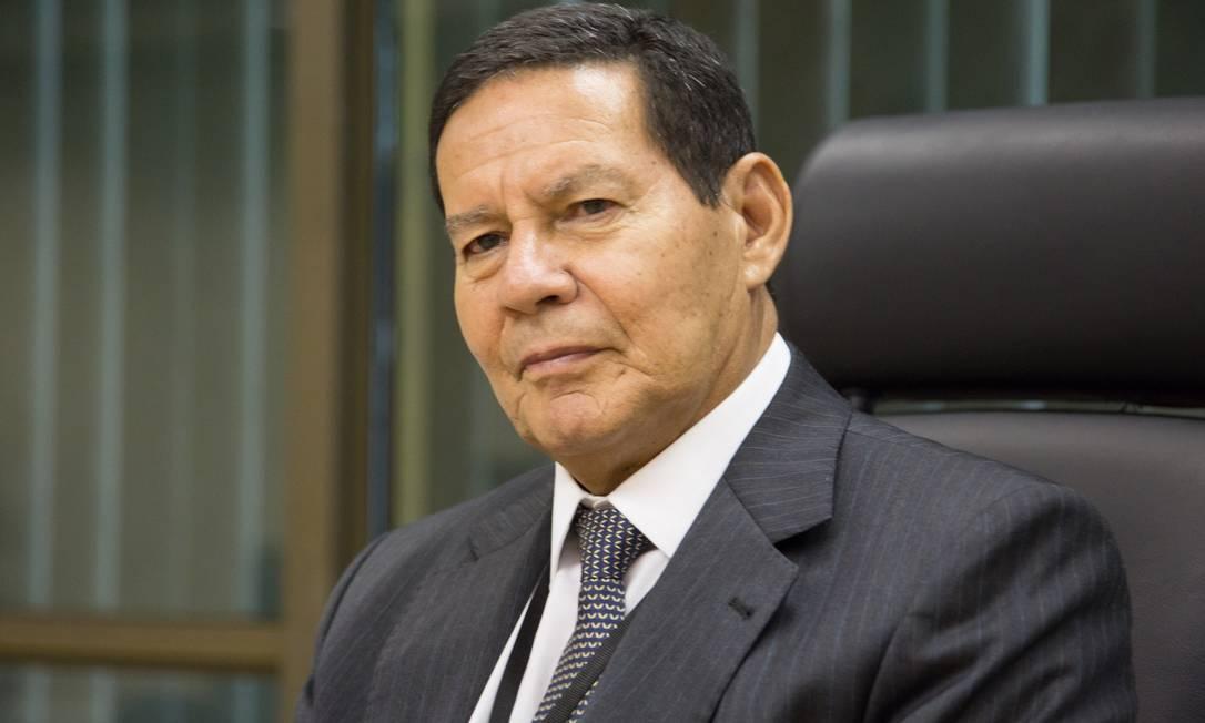 O vice-presidente Hamilton Mourão Foto: MARCOS CORREA / Agência O Globo