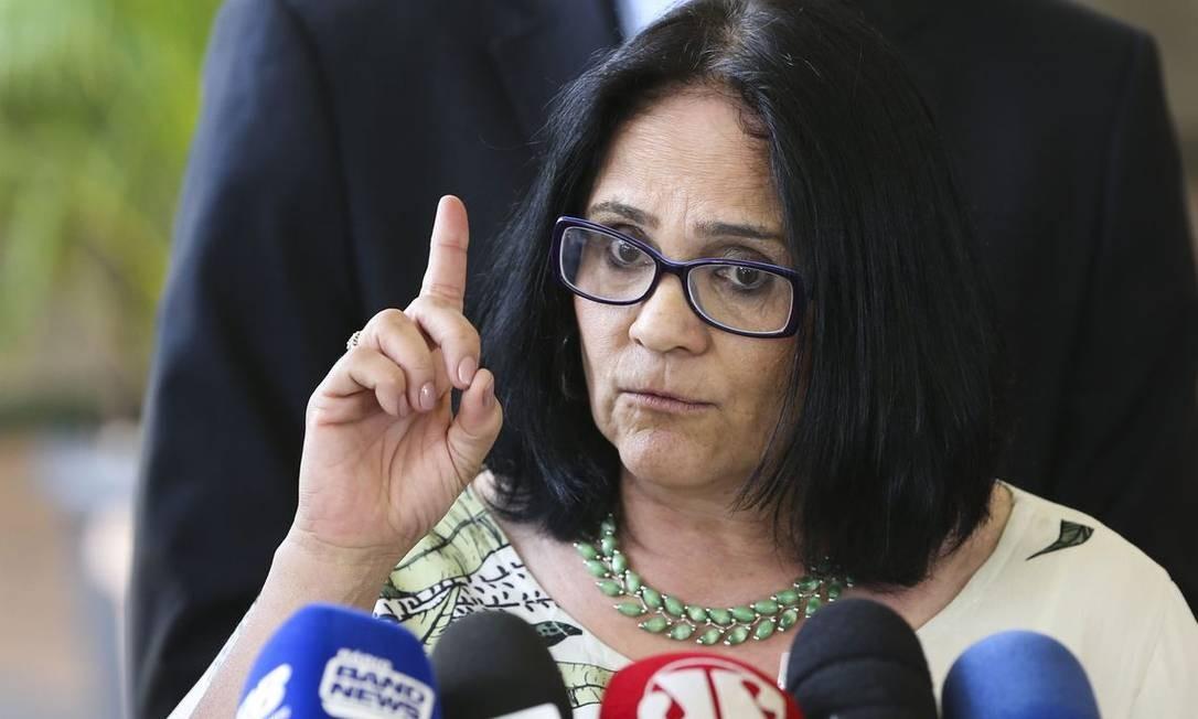 Ministra de Mulher, Família e Direitos Humanos, Damares Alves Foto: Valter Campanato / Agência Brasil
