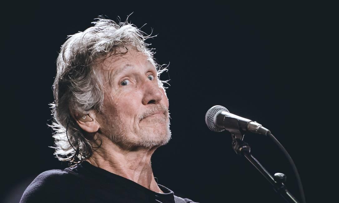 Roger Waters durante show em São Paulo, em 9 de outubro, na Arena Palmeiras Foto: Camila Cara / Divulgação