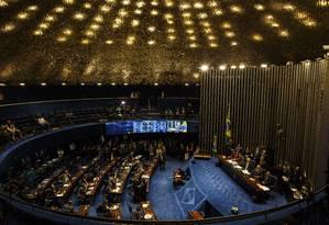 Plenário do Senado, durante votação em 2016 Foto: Daniel Marenco / Agência O Globo (10/05/2016)