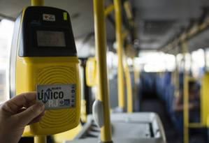 Validador de passagens: no caso dos ônibus, reajuste se deve a cumprimento de termo de ajustamento de conduta Foto: Fernando Lemos / Agência Brasil