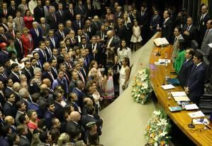 Deputados federiais eleitos tomam posse Foto: Jorge William / Agência O Globo