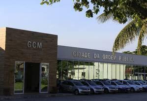Oportunidade: a sede da Guarda Municipal de Niterói, Cidade da Ordem Pública, localizada no Barreto Foto: Roberto Moreyra / Agência O Globo