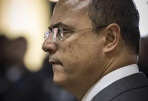 Witzel declarou que cabe a ele aceitar o que for decidido pela Mesa Diretora da Alerj Foto: Guito Moreto / Agência O Globo