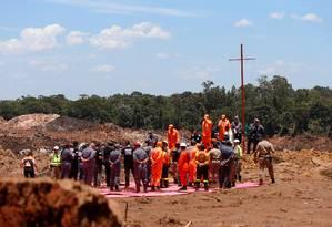Número de mortos em Brumadinho (MG) chegou a 115 nesta sexta-feira, uma semana após a tragédia Foto: Adriano Machado / Reuters