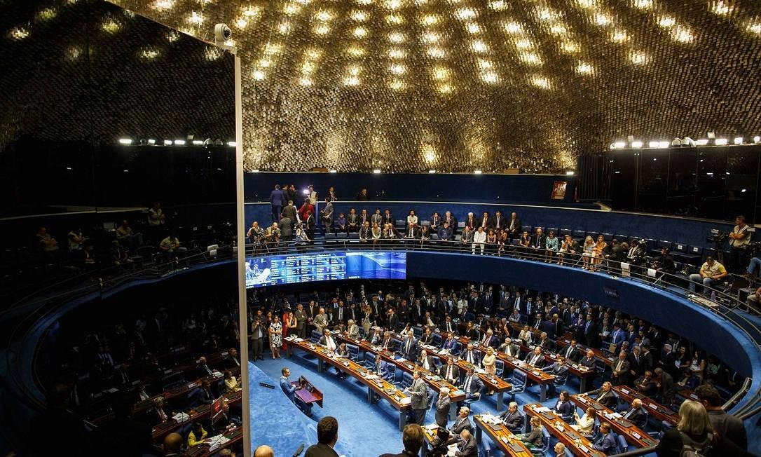 Segunda reunião preparatória para eleição e posse do presidente do Senado Federal, em Brasília (DF) Foto: Daniel Marenco / Agência O Globo