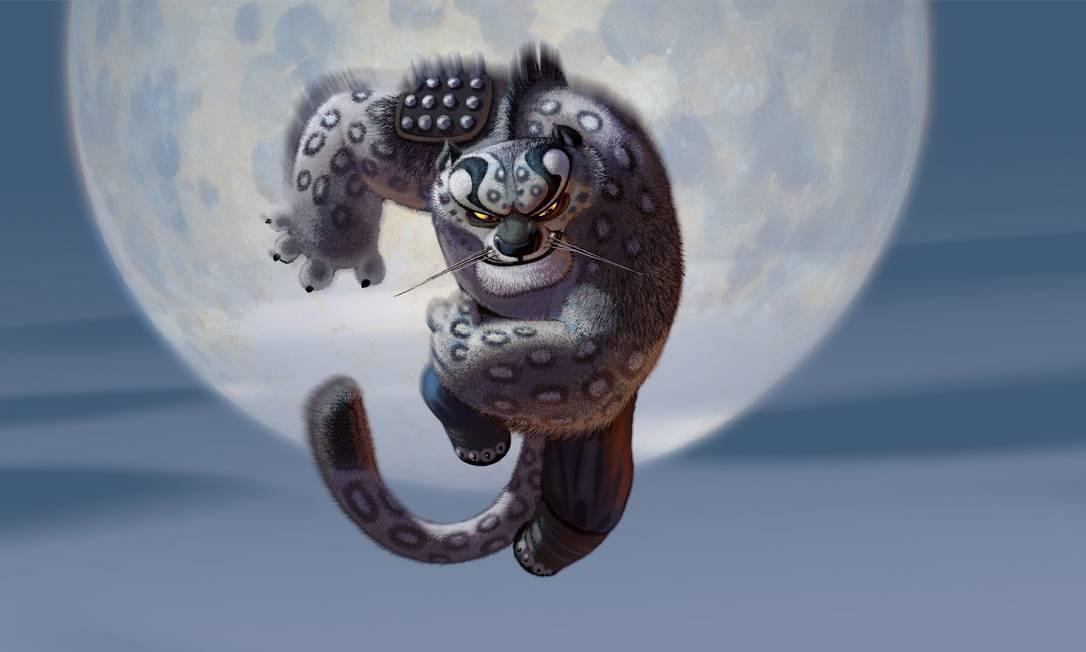 Arte de Nico Marlet e Raymond Zibach para 'Kung Fu Panda' Foto: Divulgação