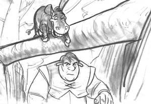 """Esboço para a criação do personagem Shrek. Este e outros desenhos originais estão na mostra """"DreamWorks Animation: A exposição — Uma jornada do esboço à tela"""". A exposição reúne 400 itens de acervo do estúdio californiano, responsável por animações de sucesso como """"Shrek"""" e """"Kung Fu Panda"""". Até 15 de abril. Centro Cultural Banco do Brasil: Rua Primeiro de Março 66, Centro — 3808-2020. Qua a seg, das 9h às 21h. Grátis Foto: Shrek © (2019) DreamWorks Animation LLC"""