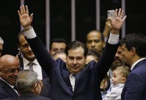 Rodrigo Maia (DEM-RJ) foi reeleito presidente da Câmara dos Deputados Foto: Jorge William / Agência O Globo