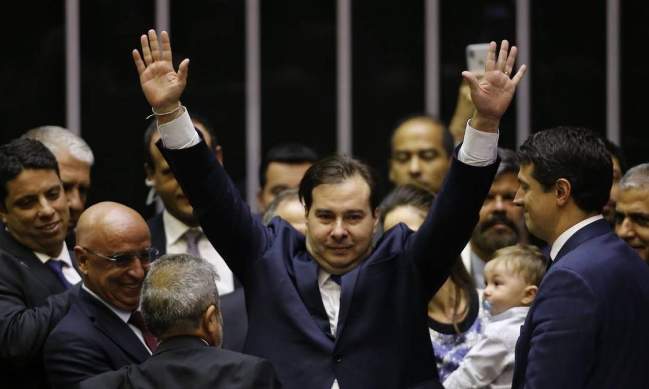 Os demais candidatos não conseguiram chegar nem perto da votação de Maia Foto: Jorge William / Agência O Globo - 01/02/2019