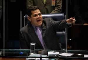 O senador Davi Alcolumbre Foto: Daniel Marenco / Agência O Globo