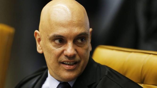 O ministro Alexandre de Moraes, durante sessão do STF Foto: Jorge William/Agência O Globo/29-11-2018