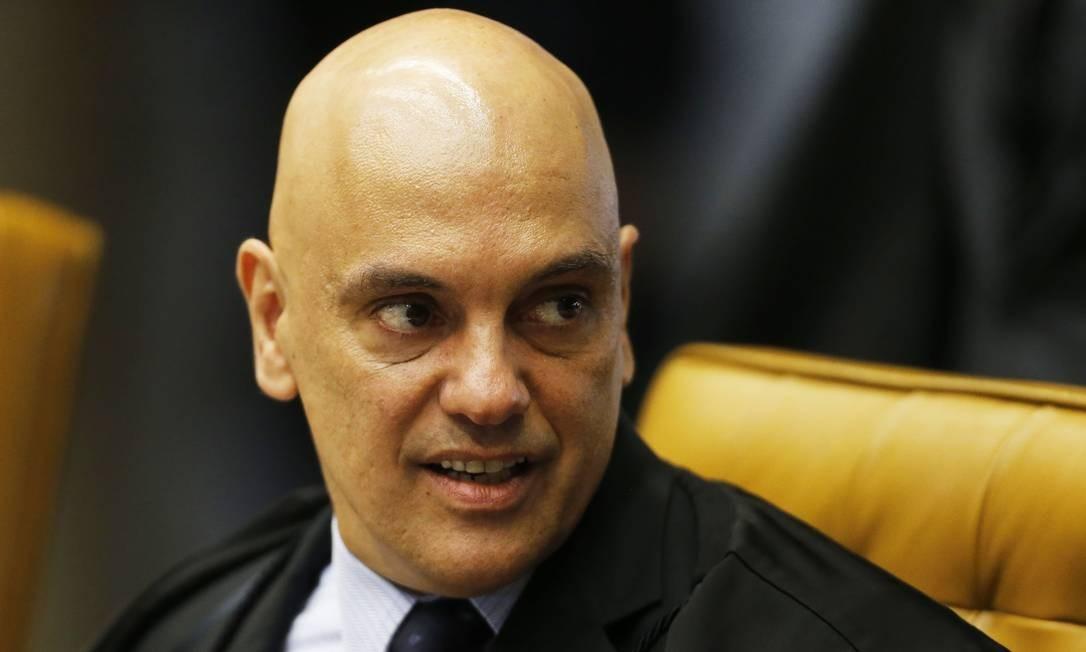 O ministro Alexandre de Moraes é relator do inquérito no STF Foto: Jorge William/Agência O Globo/29-11-2018