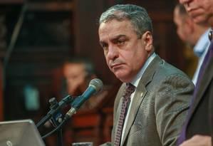 Ceciliano foi eleito em chapa única, sem concorrentes Foto: Marcelo Régua / Agência O Globo