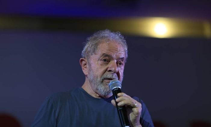 O ex-presidente Lula, em 2018 Foto: Edilson Dantas / Agência O Globo