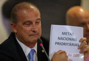 O ministro Onyx Lorenzoni Foto: Daniel Marenco / Agência O Globo