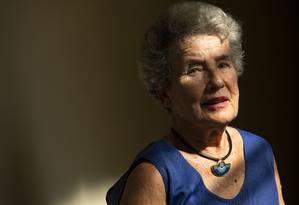 Agnes Hirschi testemunhou na infância os horrores da Segunda Guerra Mundial; ela foi uma das pessoas salvas pelo diplomata Carl Lutz Foto: Ana Branco / Agência O Globo
