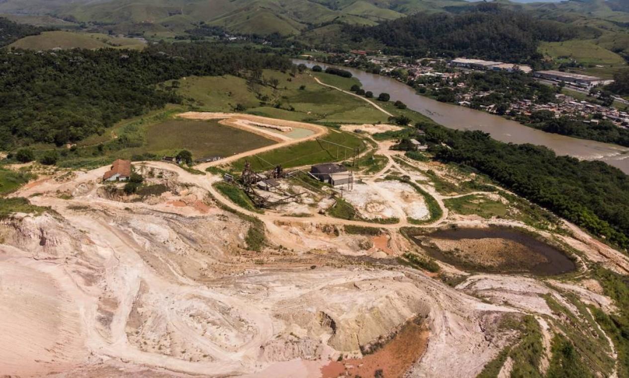A construção é uma das três do estado que estão no Cadastro Nacional de Barragens de Mineração, da Agência Nacional de Mineração, mas é a única com alto DPA (dano potencial associado) Foto: Brenno Carvalho / Brenno Carvalho