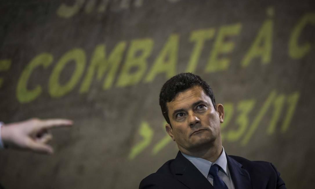 O ministro da Justiça e Segurança Pública, Sergio Moro, trabalha em um projeto nesse sentido que será enviado ao Congresso Foto: Guito Moreto / Agência O Globo