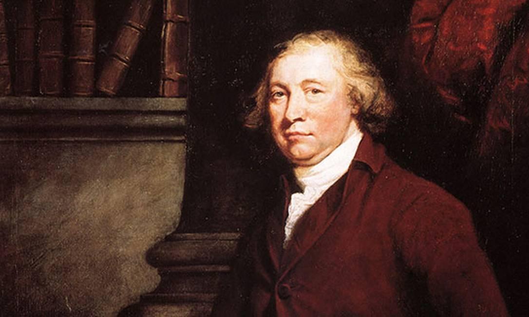 Edmund Burke, considerado o pai do conservadorismo britânico Foto: Reprodução