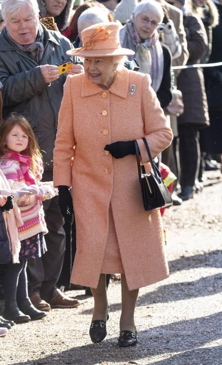 A rainha Elizabeth II em West Newton Foto: Mark Cuthbert / UK Press via Getty Images